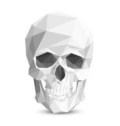 Colorful geometric low poly skull vector