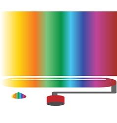 coloured rainbow art concept vector image