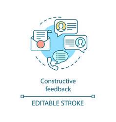 Constructive feedback concept icon vector