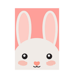 Cute cartoon hare joyful animal vector