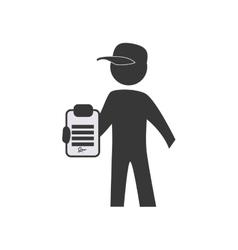 Deliver pictograph icon delivery design vector