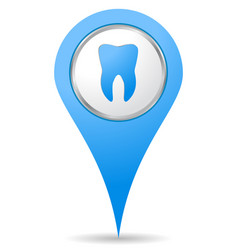 dentist location icon vector image