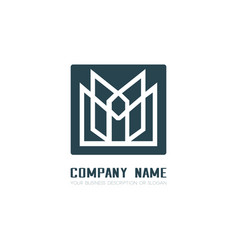 Design geometric logo for company vector