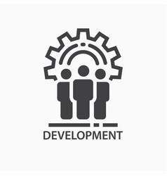 Development icon team work logo template vector