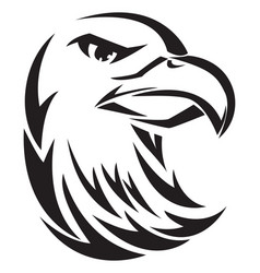 Eagle head tatoo vintage engraving vector