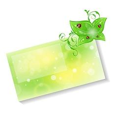 Eco friendly card vector