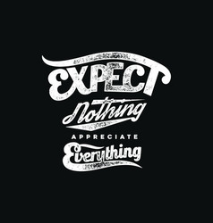 Expect nothing vector