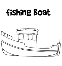 Fishing boat of art vector image vector image