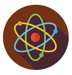 Flat Education and Science Sign Circle Icon with vector