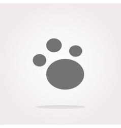 footprint icon footprint icon eps10 vector image