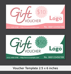 Gift voucher template clean and modern style vector