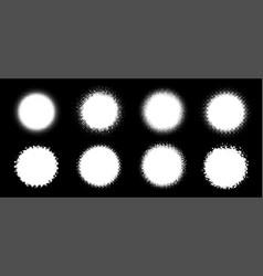 Halftone circle frame abstract dots logo emblem vector