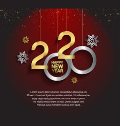 Happy new year 2020 golden and silver number vector