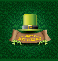 happy saint patricks day label vector image