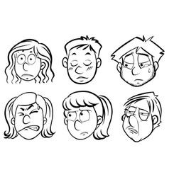 human faces with different emotions vector image