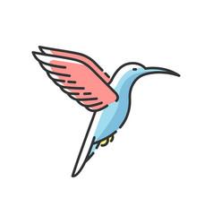 hummingbird rgb color icon vector image
