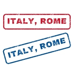 Italy Rome Rubber Stamps vector image