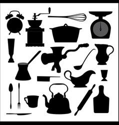 Kitchen tools icon vector