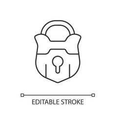 Lock linear icon vector