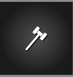 Mallet icon flat vector