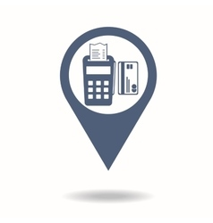 Map pointer pos terminal icon payments methods vector