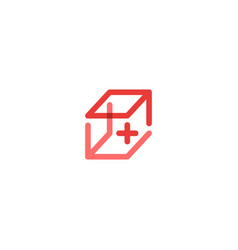 medical box first aid kit logo icon vector image