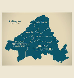 Modern city map - solingen city of germany with vector