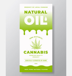natural oil abstract packaging design vector image