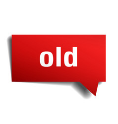 Old red 3d speech bubble vector