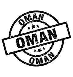 Oman black round grunge stamp vector