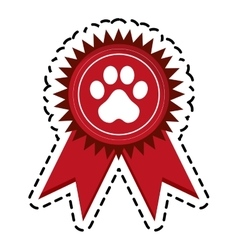 Pet medal icon vector