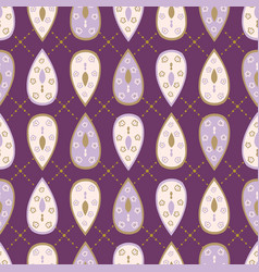 pretty stylized tear drop leaves pattern seamless vector image