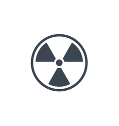radioactive related glyph icon vector image