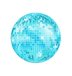 realistic detailed disco ball vector image