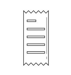 receipt amount line icon vector image