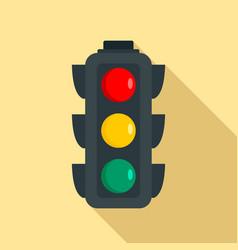 regulation traffic lights icon flat style vector image