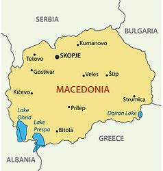 republic macedonia - map vector image