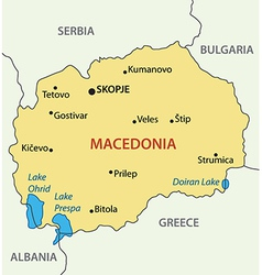 Republic of Macedonia - map vector image