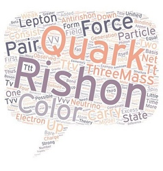 Rishon Model of Elementary Particles text vector