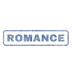Romance textile stamp vector