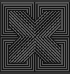 seamless geometric pattern - dark gray vector image
