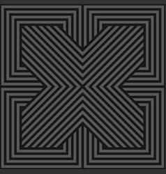seamless geometric pattern - dark gray vector image