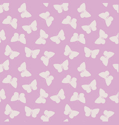 seamless pattern with blue watercolor butterfly vector image