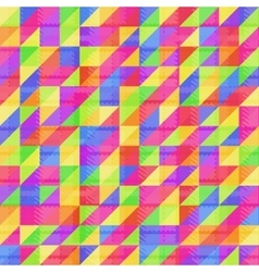 Seamless rainbow triangle vector