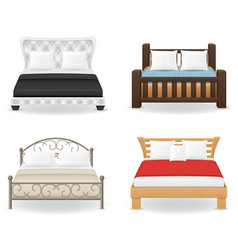 set bed vector image
