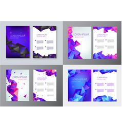 set brochure design templates cover vector image