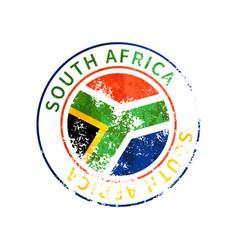 south africa sign vintage grunge imprint vector image