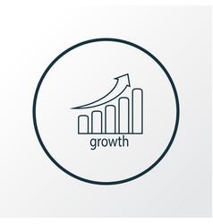 stock growth icon line symbol premium quality vector image