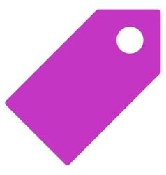 Tag flat violet color icon vector
