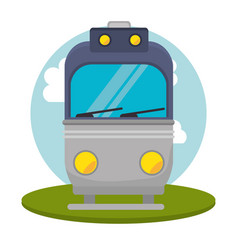 tram transport public icon vector image
